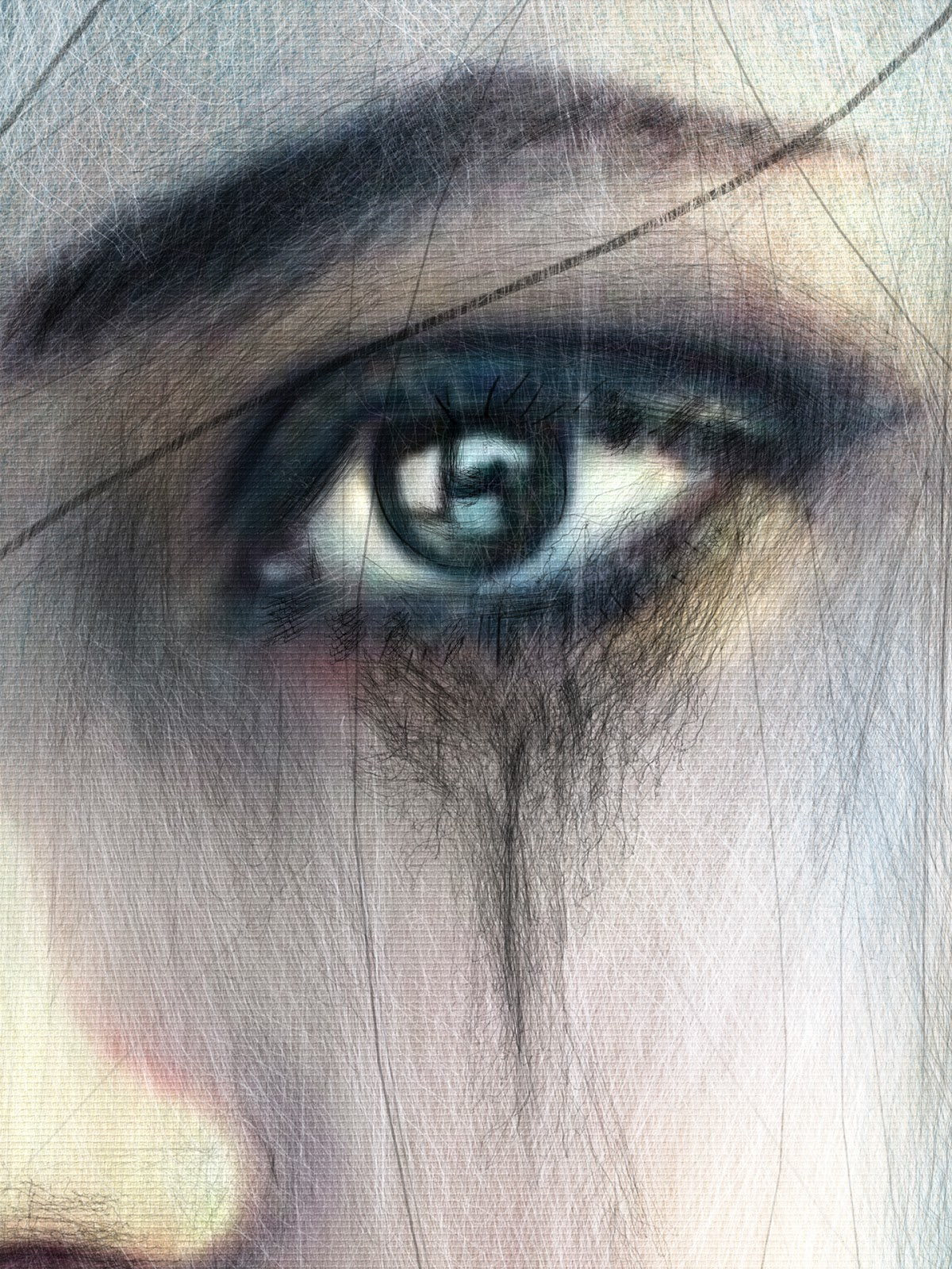 Eye painting with Corel Painter