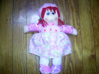muñeca pepona de trapo, artesanias,