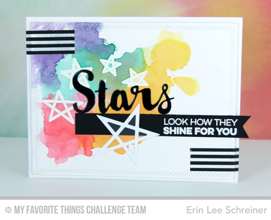 How They Shine for You Card by Erin Lee Schreiner featuring the Laina Lamb Designs Count the Stars stamp set and Stars & Wishes and Lucky Stars Die-namics #mftstamps