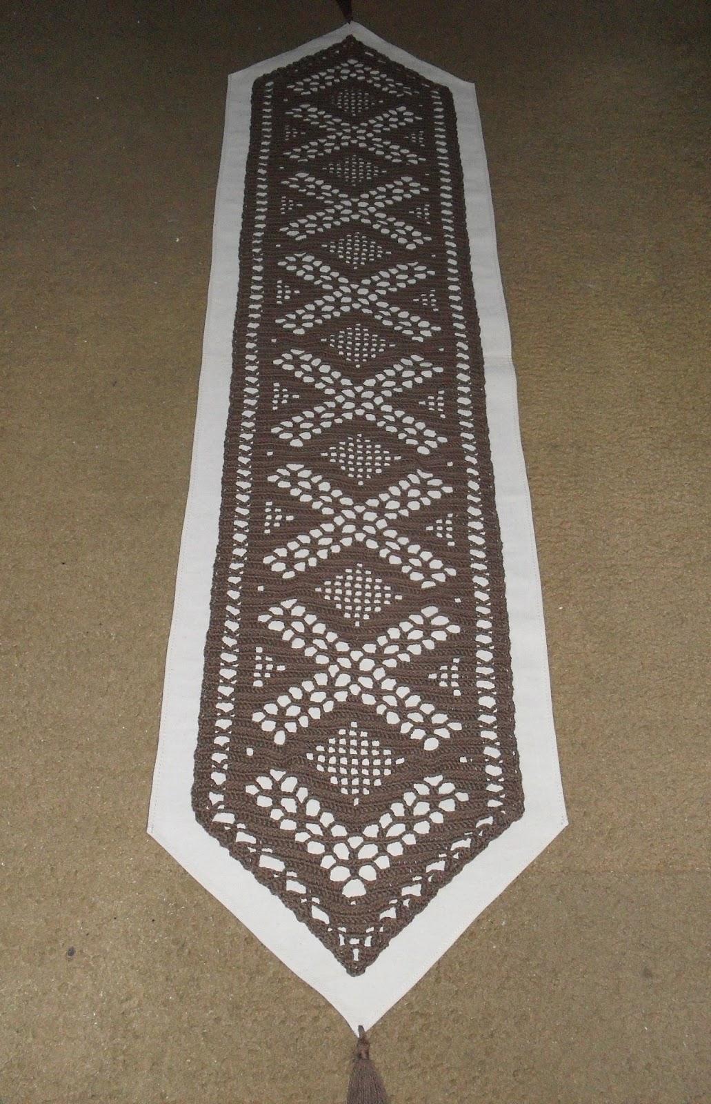Vivicrochet visillos caminos de mesa carpetas for Tela para manteles de mesa