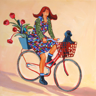 Daily painters abstract gallery contemporary figure for Bicycle painting near me