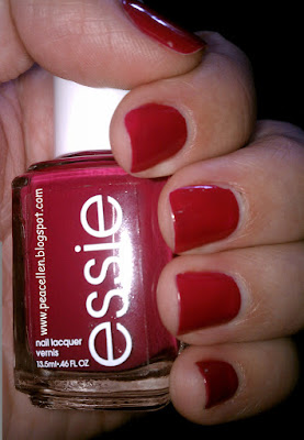 Essie Raspberry nail polish swatch