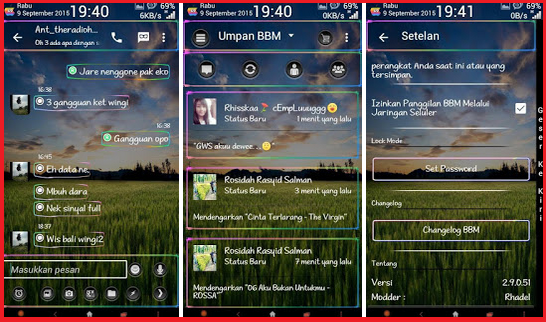 BBM MR neon transparent Update v 1.1 Base version 2.9.0.51 Apk
