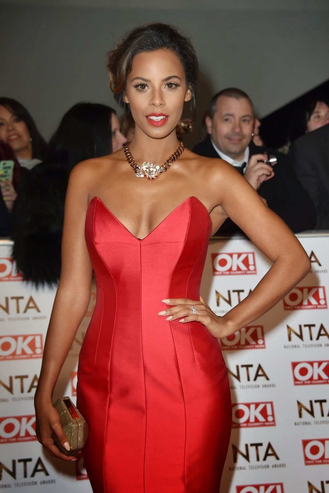 Singer Songwriter, Actress:  Rochelle Humes Attend The National Television Awards