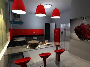 cozinha - vermelha
