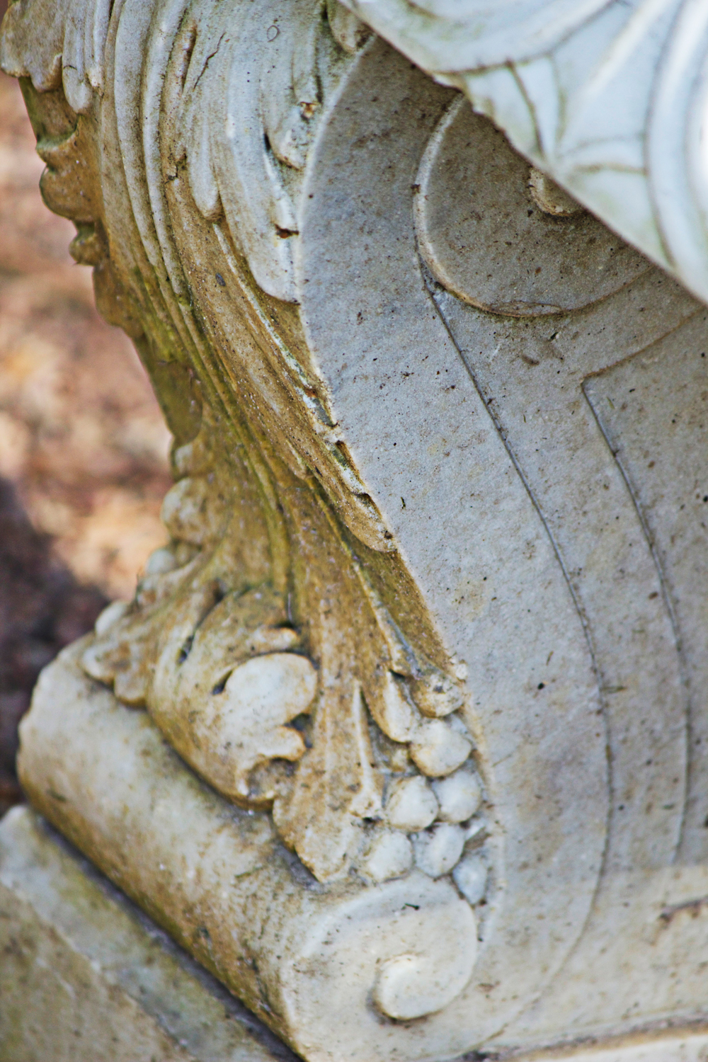 close up of stone urn - photo copyright Allison Beth Cooling