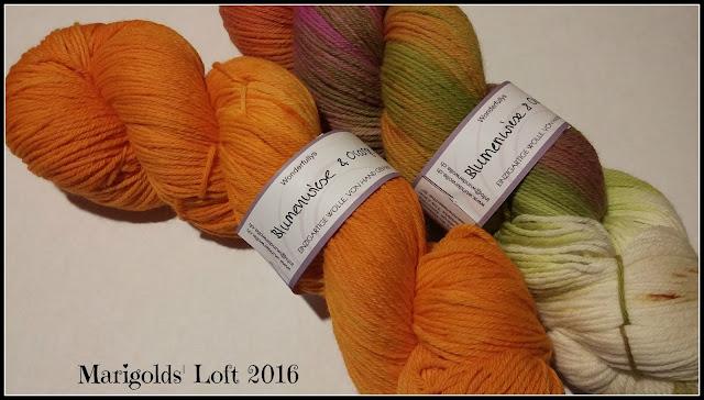 Wunderwolle wunderfullys Blumenwiese und Orange
