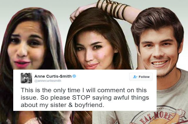 Anne Curtis defends her sister and her boyfriend over a viral photo