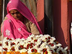 Flower seller in Jaipur