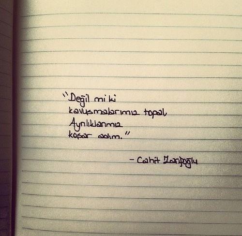 Cahit Zarifoğlu Değil Mi Ki Kavuşmalarımız Topal Resimli şiir