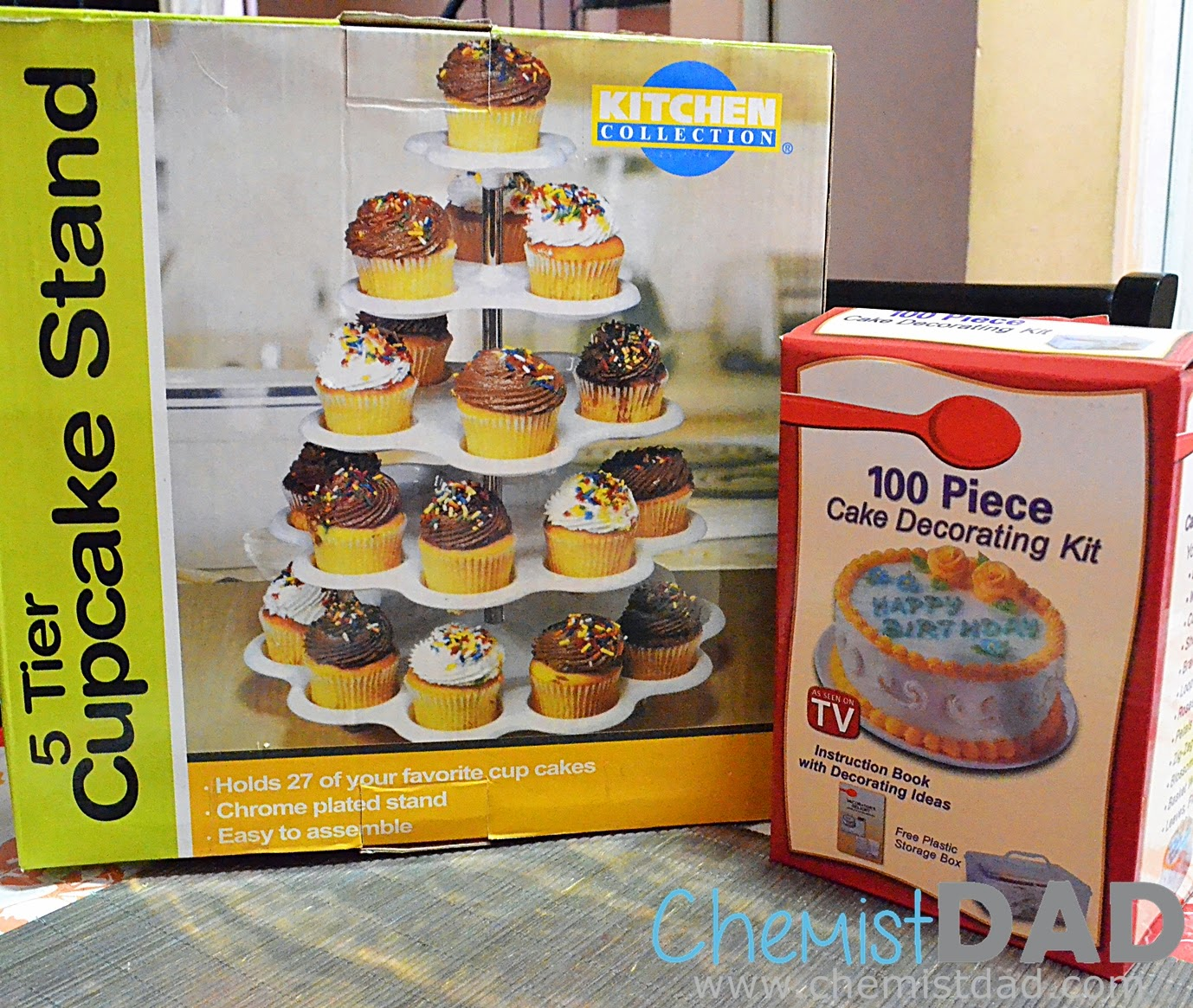 Cake Decorating Kit and Cupcake Stand