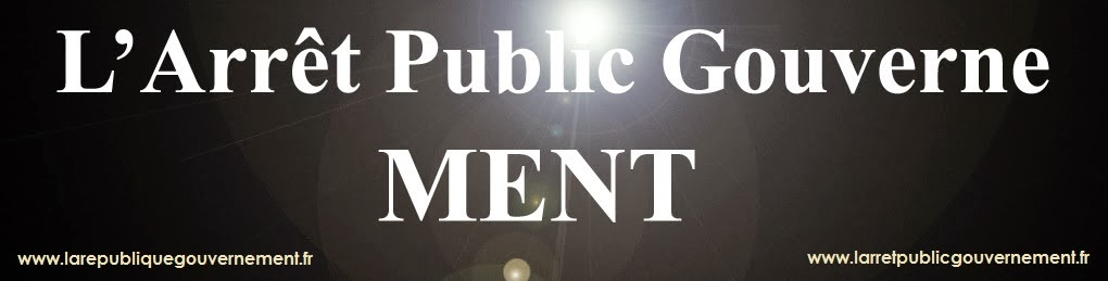 L arret public gouverne, ment