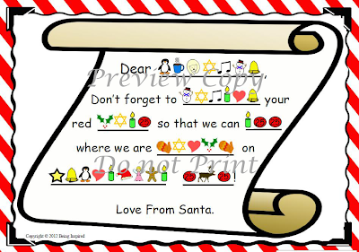 Secret coded letter from Santa Claus