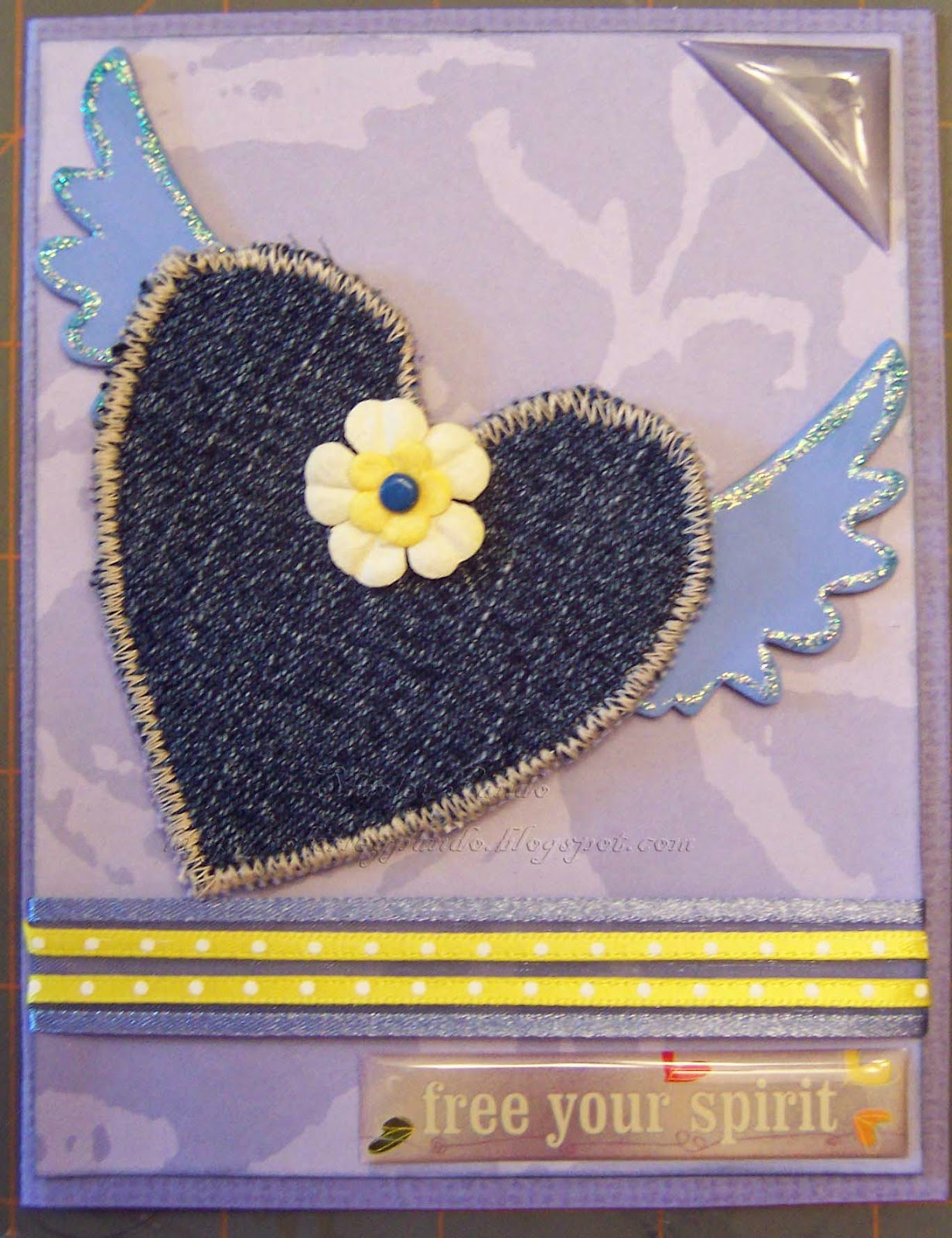 Blue Jean Heart card