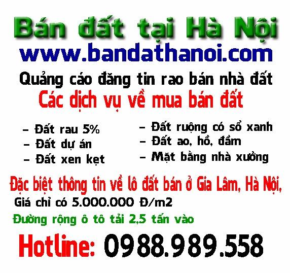 Bán đất tại Hà Nội