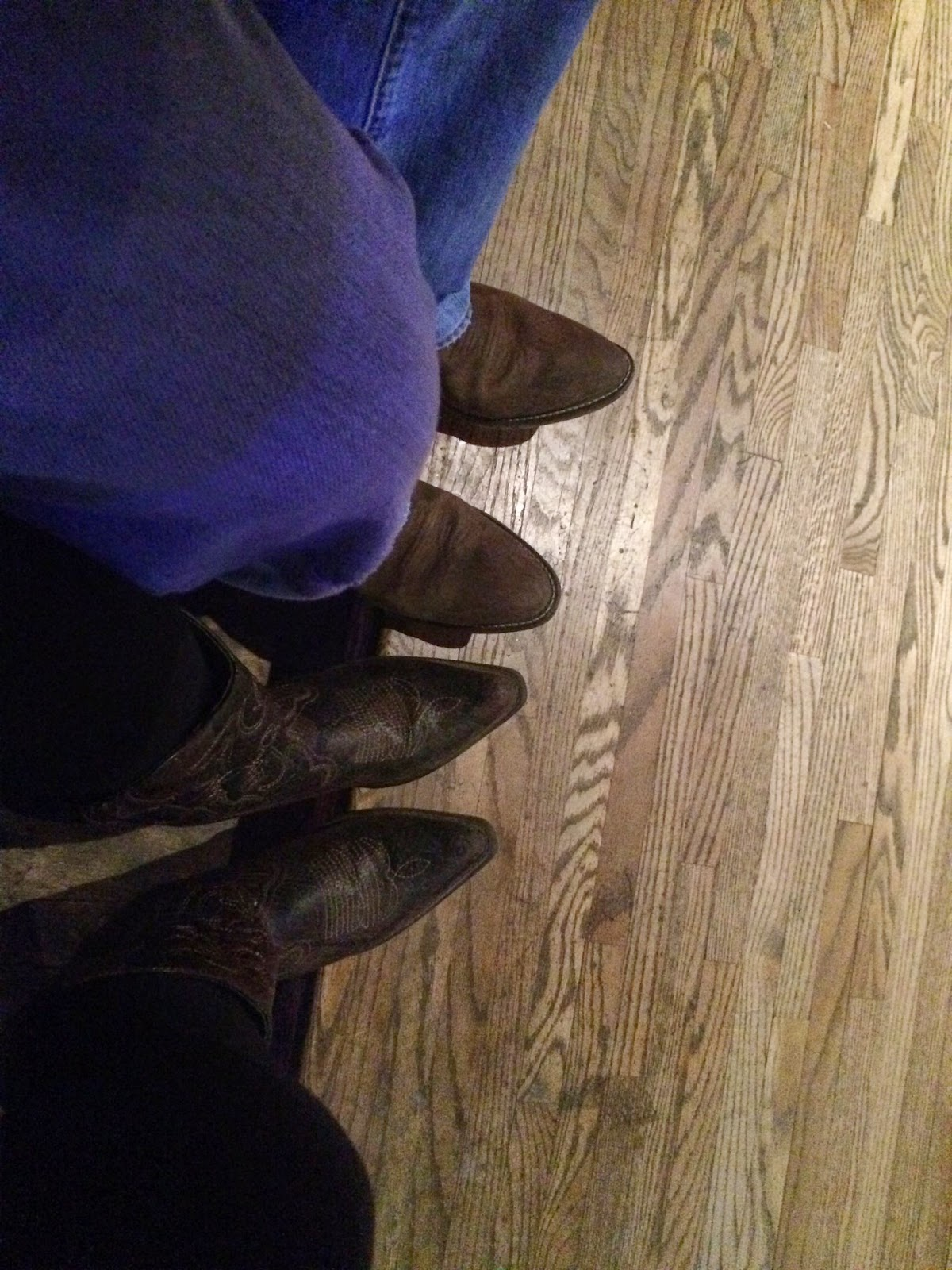 cowboy boots for date night at country club