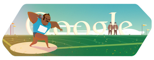 Google Doodles - Olympic Shot Put 2012