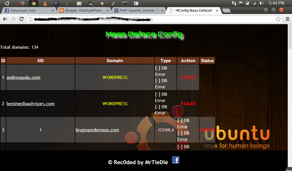 Tutorial Mass Deface Config Website | IrfanSyahPutra