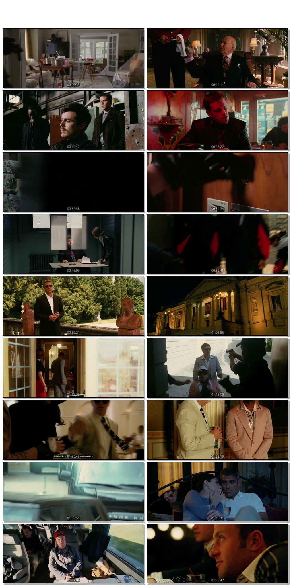 Screen Shot Of Ocean's Twelve 2004 300MB Full Movie Hindi Dubbed Free Download 720P BRRip HEVC