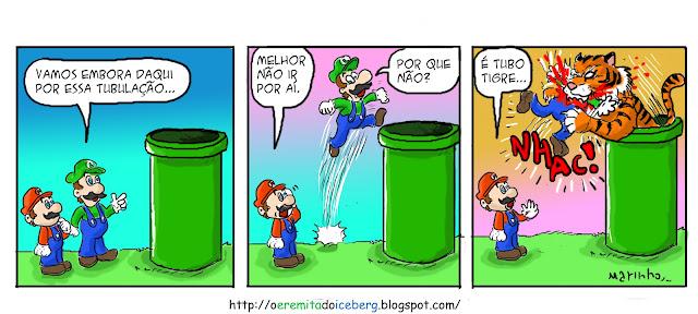 Mario tubos,tirinhas