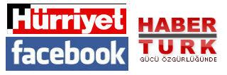 Hurriyet, Haberturk and facebook Logos