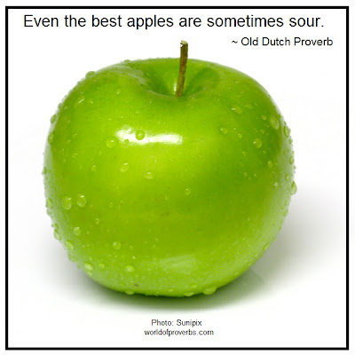 Old Dutch Proverb: Even the best apples...