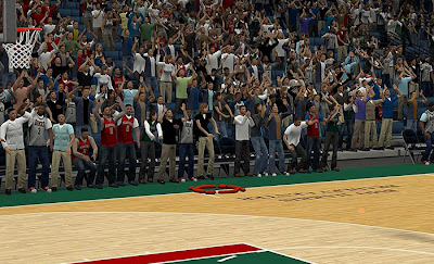 NBA 2K13 Milwaukee Bucks Stadium Crowd Fix