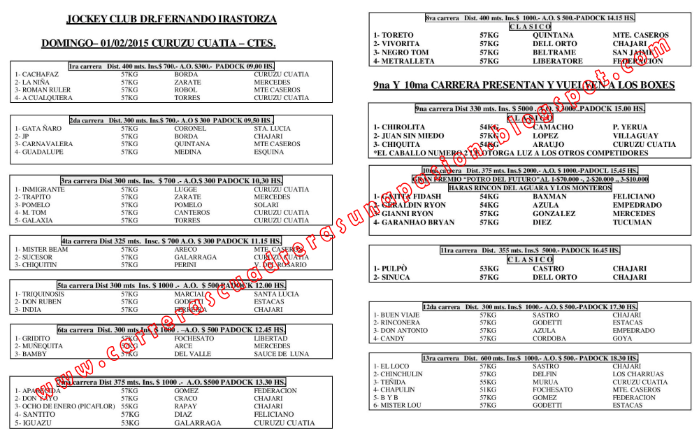 C. CUATIA - PROGRAMA - 01.02.2015