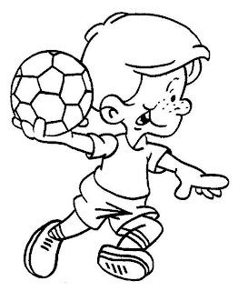 Desenhos Para Colori Meninos e meninas jogando bola desenhar