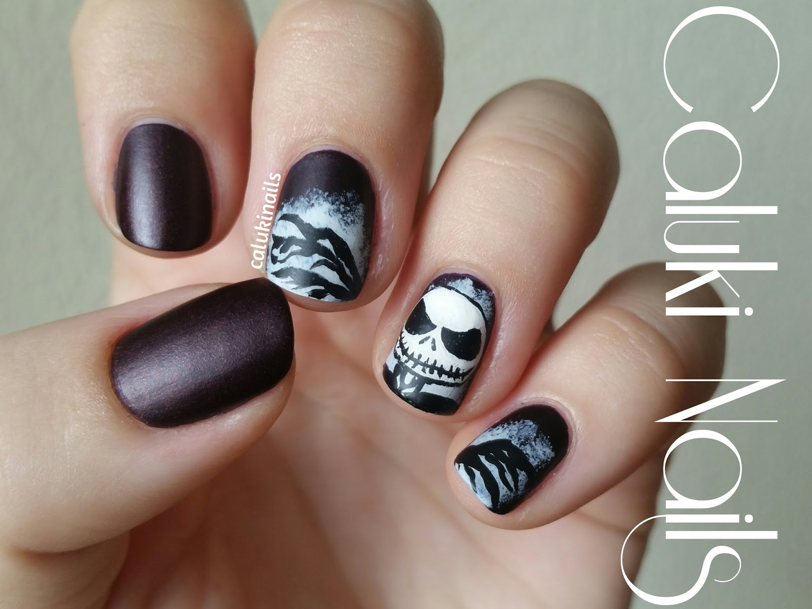 Caluki Nails : Nail art Jack Skellington | Velvet Matt IsaDora