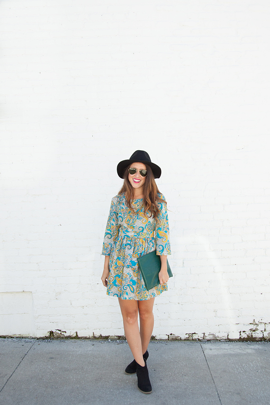 Here&Now: boho dress for Fall