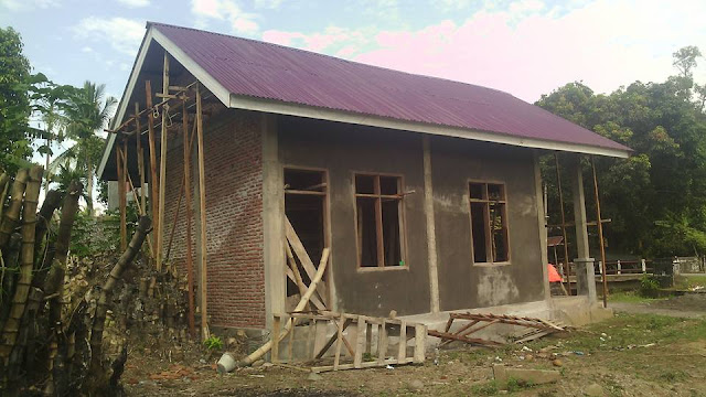 Gedung PKK tampang samping belakang Gampong Meunasah Raya Krueng Kec. Peukan Baro Kab. Pidie - Aceh