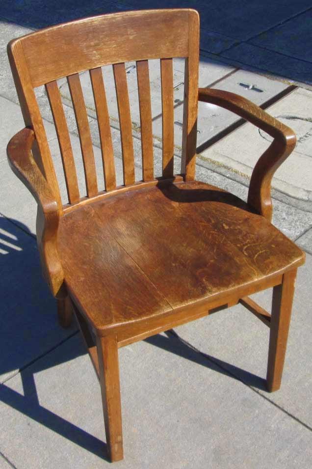 Uhuru Furniture Amp Collectibles Sold Oak Banker S Chair 45