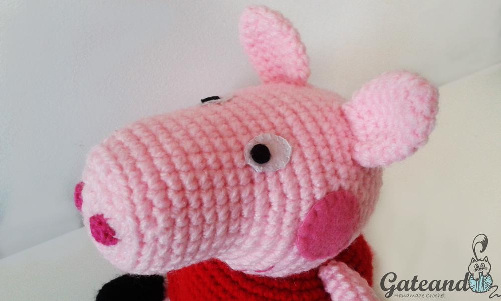 Patron Amigurumi Peppa Pig Grande : Peppa Pig amigurumi