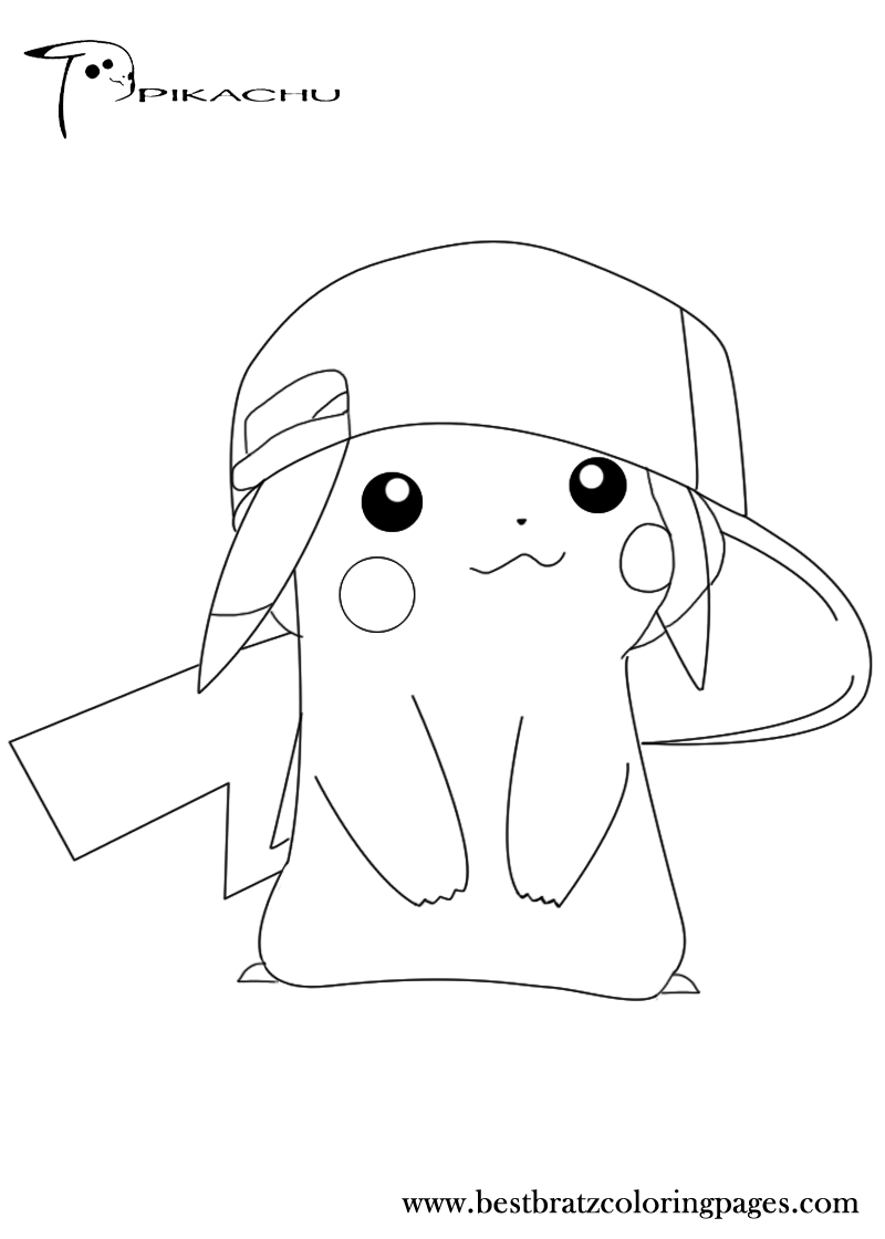 Cute baby pikachu coloring pages - photo#18