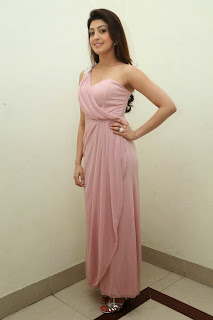 Pranitha Supash at lovely Light Pink Gown at Rabhasa Audio Release Function