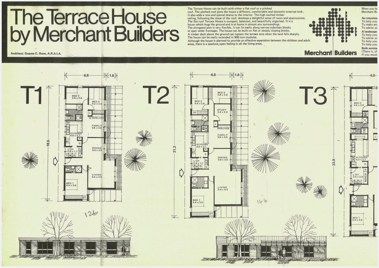 The First Version Of This House Was Designed In 1965 By Graeme Gunn And Was  In A Group Of Three Houses Built For The First Merchant Builderu0027s Display  ... Good Ideas
