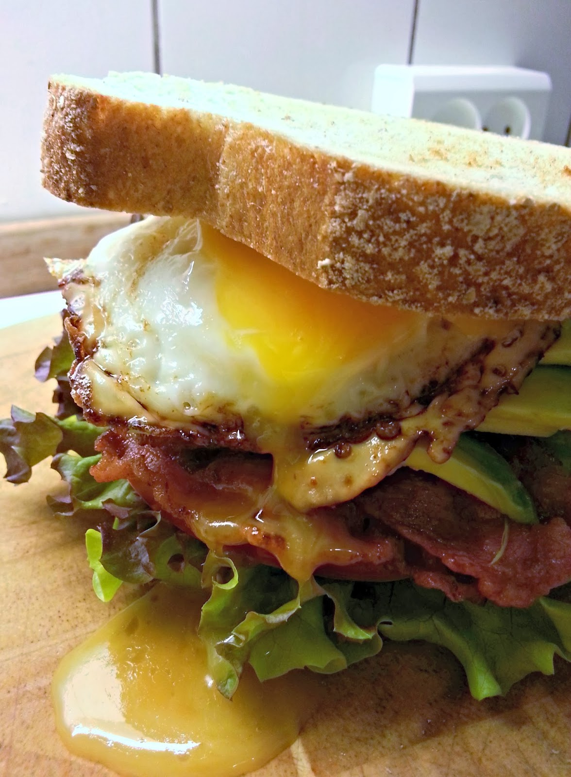 Opgraderet BLT sandwich