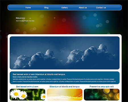 Free Abstract Blue Black Website Template