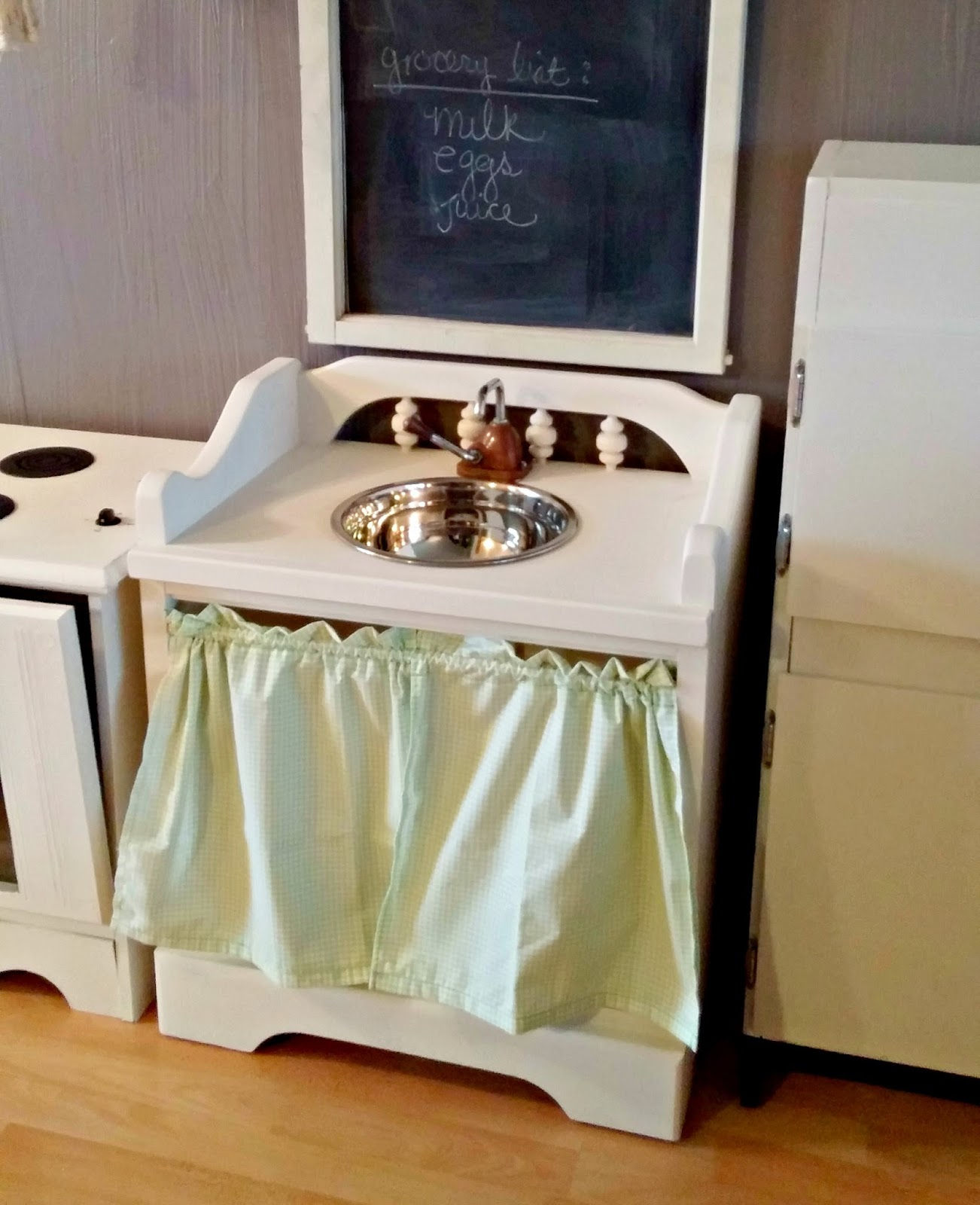 Upcycled Children S Play Kitchen Little Vintage Cottage