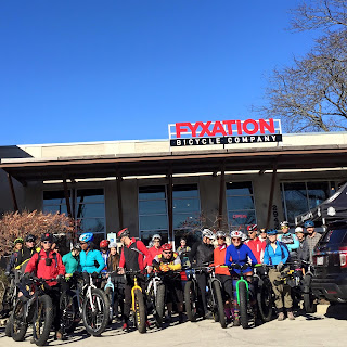 Fat Bike Group Ride from Fyxation Bicycles, Milwaukee, WI