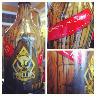 Phillips Brewery Custom Painted Beer Growler Victoria Canada painted by chris dobell signwriters