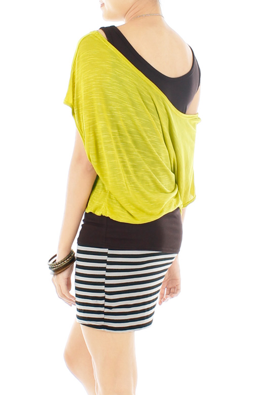 Weekend Chic Stripe Dress – Chartreuse Yellow