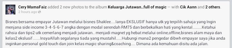 Kelebihan Daftar Ahli Bersama Pengedar Shaklee Terbaik Malaysia