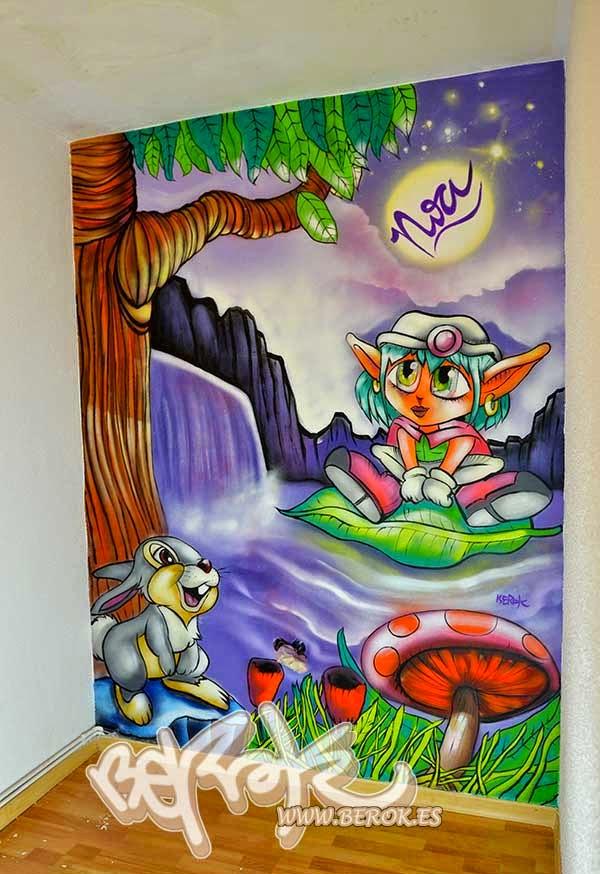 Murales infantiles para cuartos de niña