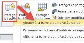astuce pour ajouter des commandes à la barre d'outils Accès rapide