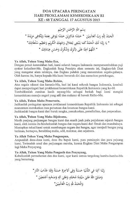 Paskibra SMA Negeri 48 Jakarta Timur: Teks Doa dalam ...