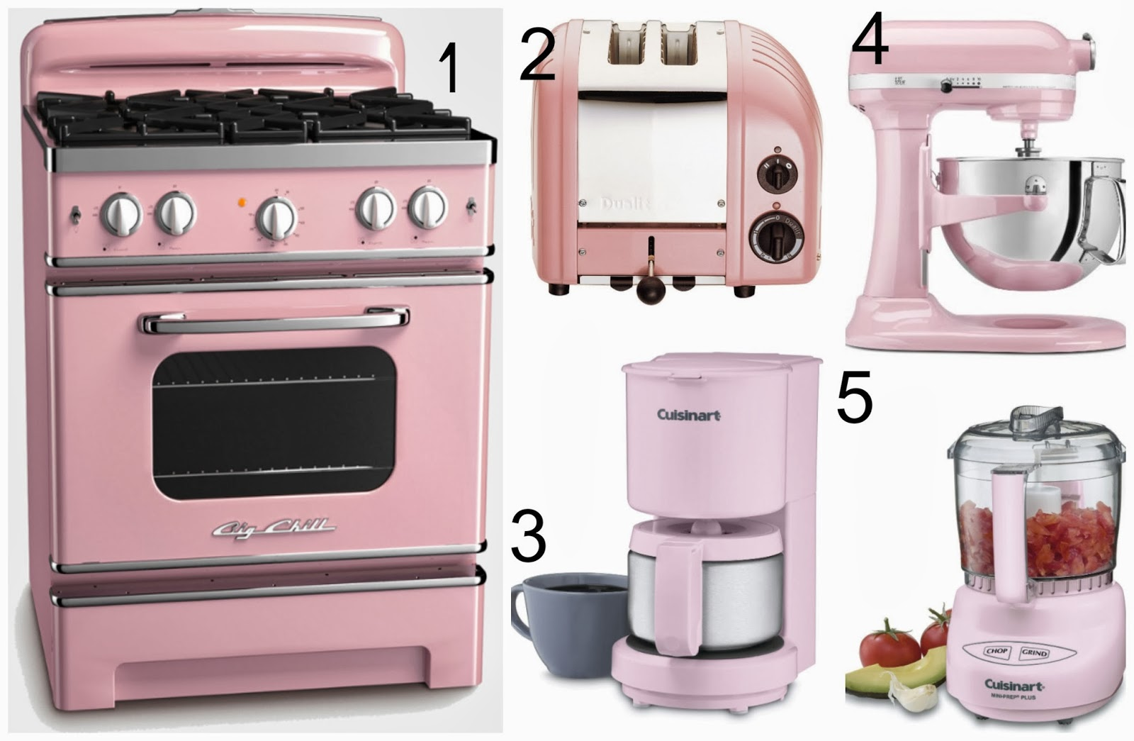 Retro Kitchen Appliance Pink And Mints Collage Monday Pretty Pink Things For The Kitchen