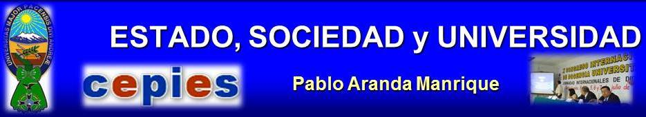 ESTADO, SOCIEDAD Y UNIVERSIDAD