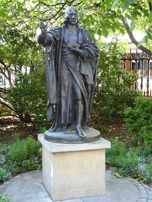 Statue of John Wesley, outside St Paul's Cathedral, London